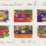 Samuel Buri, Farbtupfer auf Chevy, 40 x 60 cm