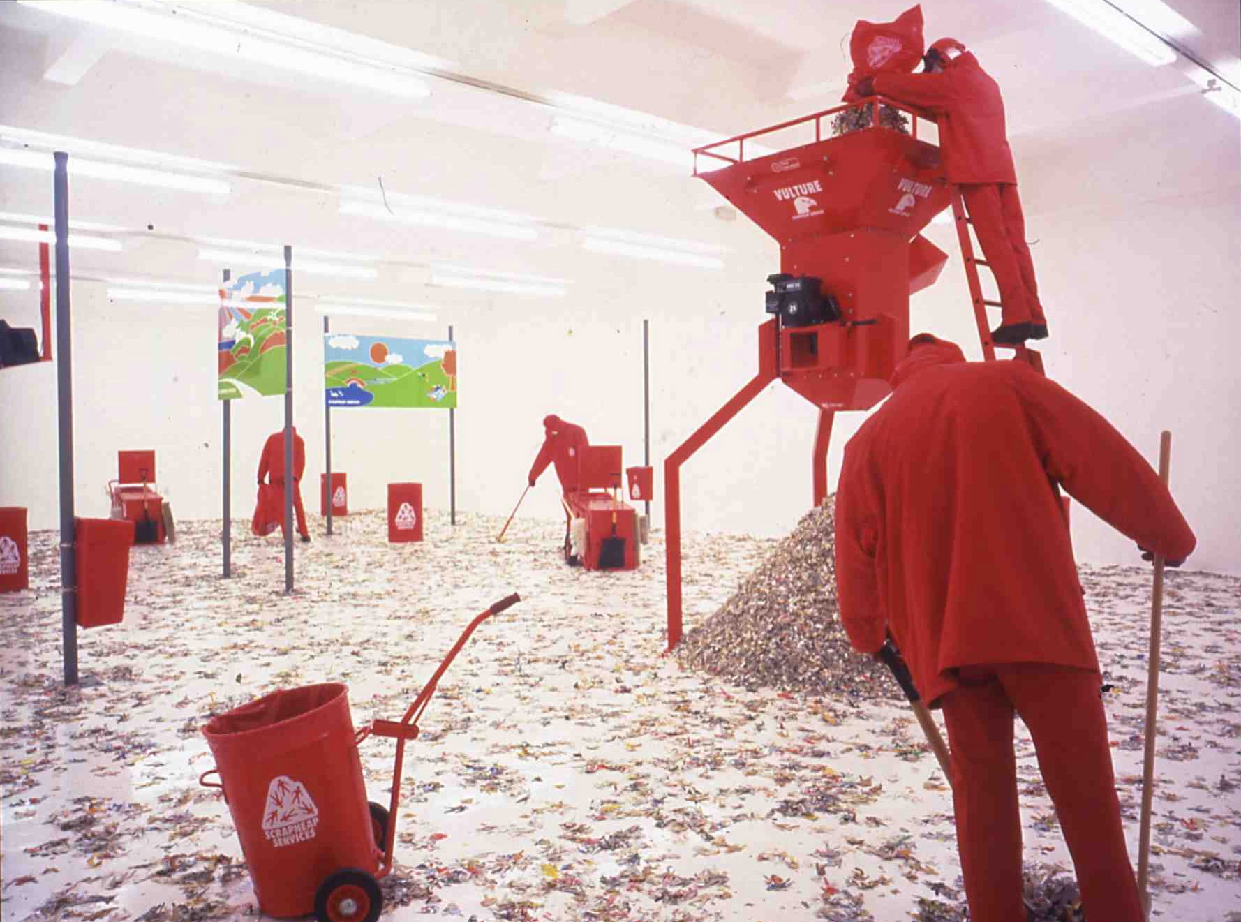 Michael Landy, Scrapheap Services, 1995 Mixed media Installationsansicht, Chisenhale Gallery, London, 1996 Tate Collection, London
