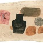 Julius Bissier 20.Nov.60 Cres, 1960 Eioeltempera auf selbstgrundierter Baumwolle, 13,4 x 22,7 cm Ref. 100/AB
