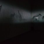 Michal Rovner: Anubis, 2016. Installation view @ Art Basel Unlimited 2017