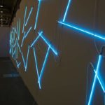 François Morellet: π Weeping Neonly, 2001. Installation view @ Art Basel Unlimited 2017