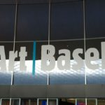 Art Basel – fair entrance with logo