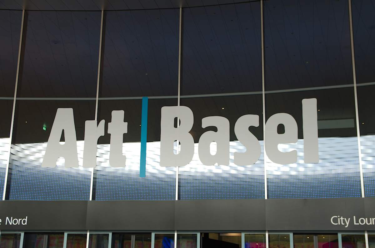 Art Basel – fair entrance with logo