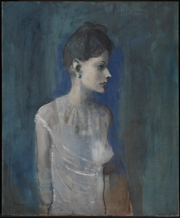 Bild von Pablo Picasso - Femme à la chemise von 1905.