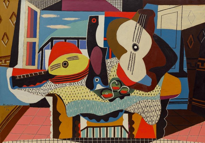 Picasso - Mandoline und Gitarre