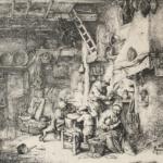 Adriaen van Ostade 1610 –1685Die Familie,1647RadierungKunst Museum Winterthur, Stiftung Oskar Reinhart